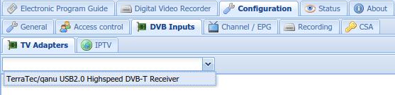 TVHeadEnd DVB inputs